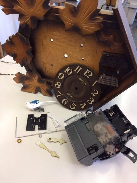 ハト時計の修理